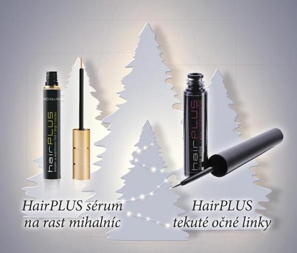 FacEvolution Hairplus rastové sérum na riasy a obočie + Hair plus tekutá očná linka