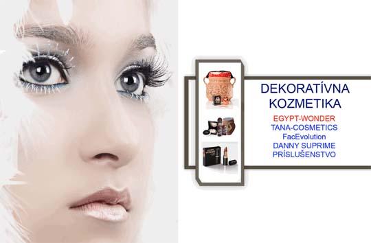 Dekorativna kozmetika, pudre, na mihalnice, na tvar, prislusenstvo